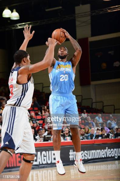 Richard Howell of the Denver Nuggets goes for a jump shot during NBA Summer League game between the Denver Nuggets and the Washington Wizards on July...