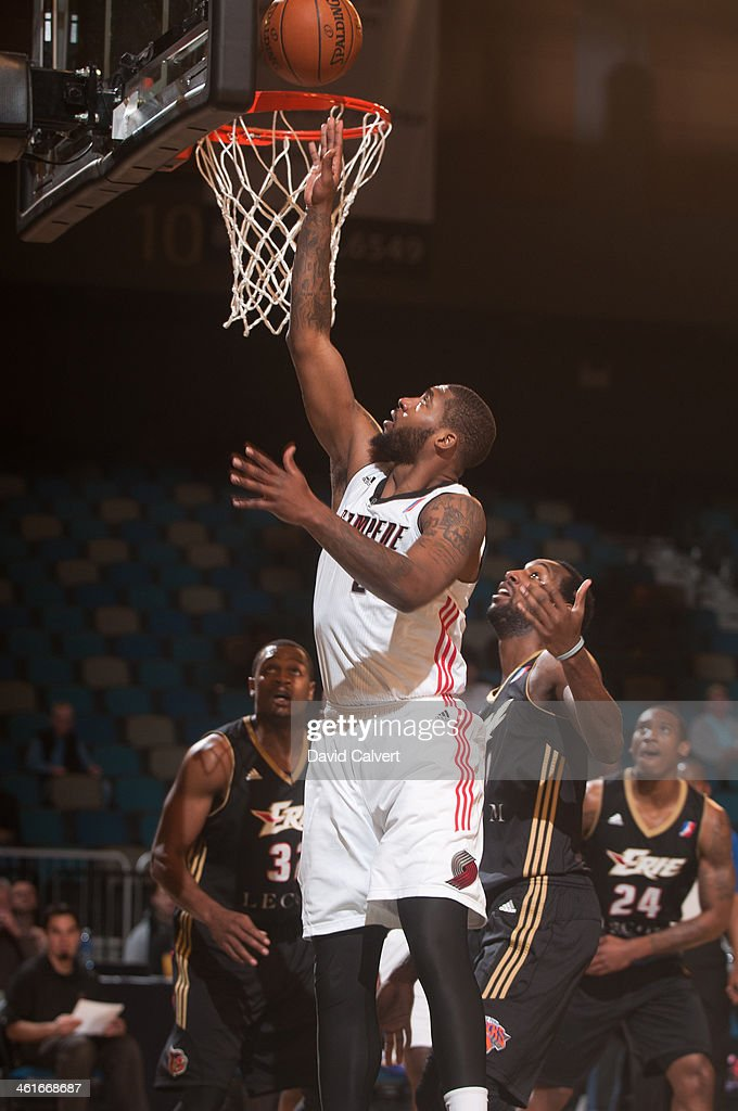 Richard Howell of the Idaho Stampede puts up a shot against the Erie BayHawks during the 2014 NBA DLeague Showcase on January 8 2014 at the Reno...