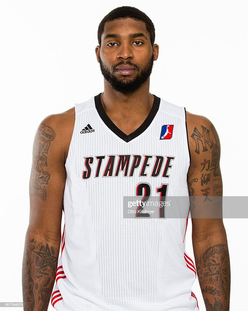 Richard Howell poses for a photograph on the Idaho Stampede's Media Day on November 11 2013 at Peppershock Media in Nampa Idaho NOTE TO USER User...