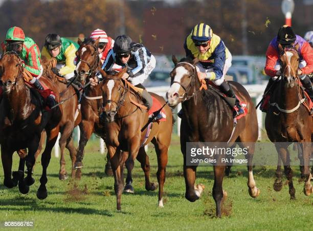 Richard Hughes on the favourite Fettuccine finishes third behind Seal Rock and jockey Dane O'Neill win the Totesport 0800 221 221 Cock O'the North...