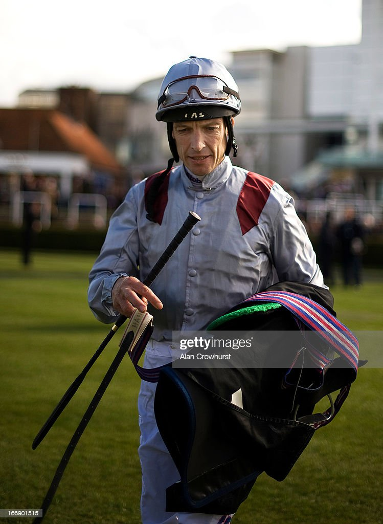Richard Hughes poses at Newmarket racecourse on April 18, 2013 in Newmarket, England.