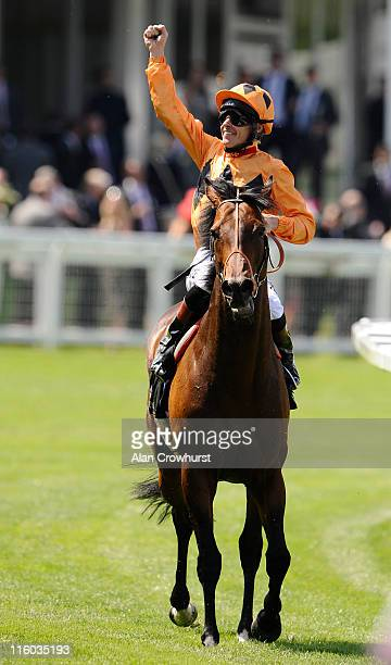 Richard Hughes riding Canford Cliffs wins The Queen Anne Stakes from during day one of Royal Ascot at Ascot racecourse on June 14 2011 in Ascot...
