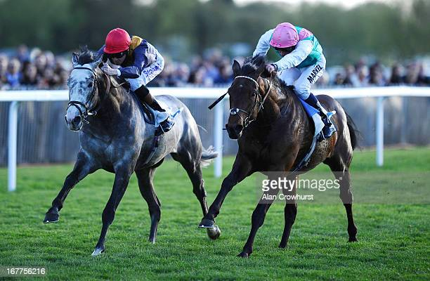 Richard Hughes riding Duke Of Clarence win The Sydney Arms Pub Chelsea Racing Club Handicap Stakes at Windsor racecourse on April 29 2013 in Windsor...