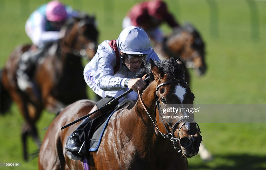 <a gi-track='captionPersonalityLinkClicked' href=/galleries/search?phrase=Richard+Hughes+-+Jockey&family=editorial&specificpeople=206680 ng-click='$event.stopPropagation()'>Richard Hughes</a> riding Toronado win The Novae Bloodstock Insurance Craven Stakes at Newmarket racecourse on April 18, 2013 in Newmarket, England.