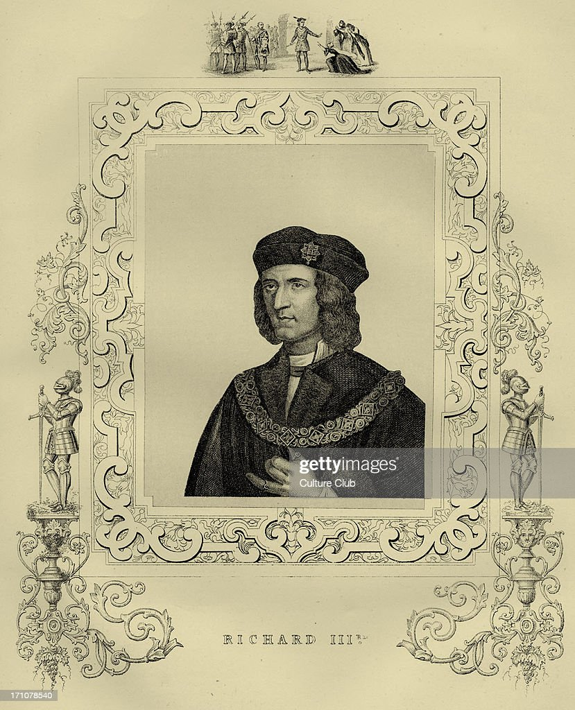 Richard III (1452 – 1485) was King of England from 1483 until his death. He was the last king from the House of York, and his defeat at the Battle of Bosworth marked the culmination of the Wars of the Roses and the end of the Plantagenet dynasty. He is widely believeed to have murdered his nephew. He was immortalised in a play by Shakespeare.