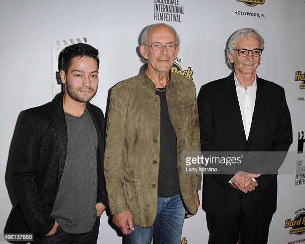 Richard J Bosner Christopher Lloyd and Arnold Grossman attend the Fort Lauderdale International Film Festival Opening Night at Seminole Hard Rock...