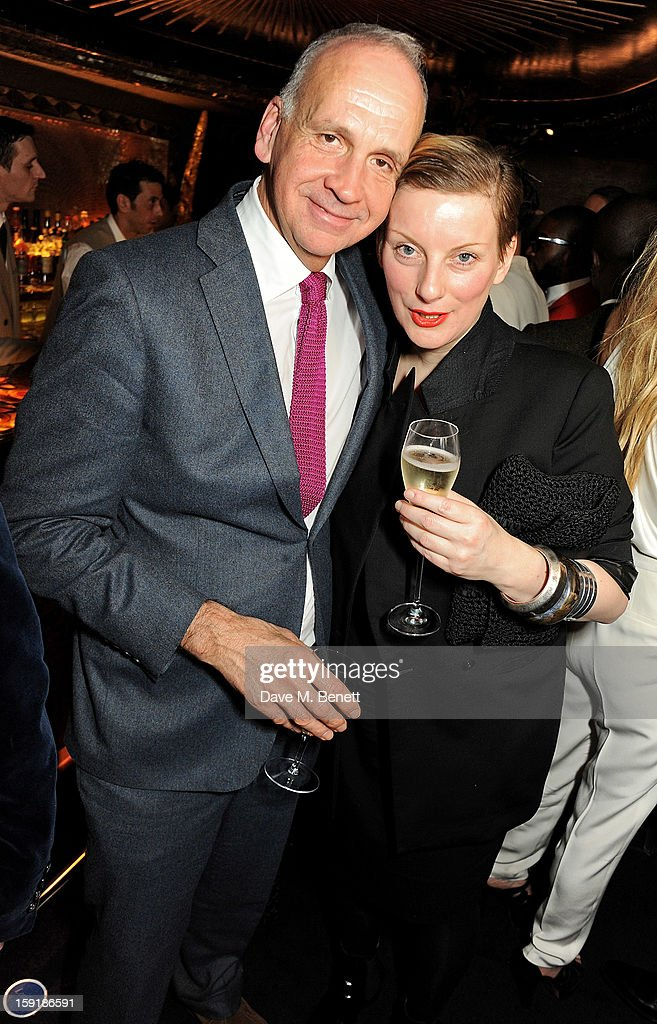 Richard James (L) and Lou Hayter attend a private dinner hosted by Tom Ford to celebrate his runway show during London Collections: MEN AW13 at Loulou's on January 9, 2013 in London, England.