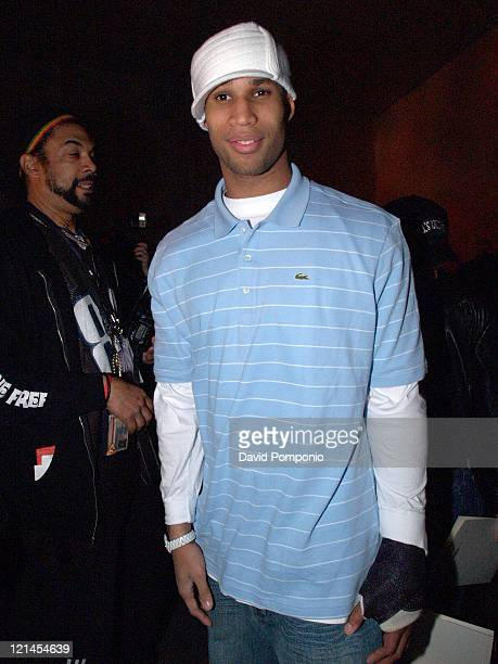 Richard Jefferson during Olympus Fashion Week Fall 2005 Joseph Abboud Front Row and Backstage at Bryant Park in New York City New York United States