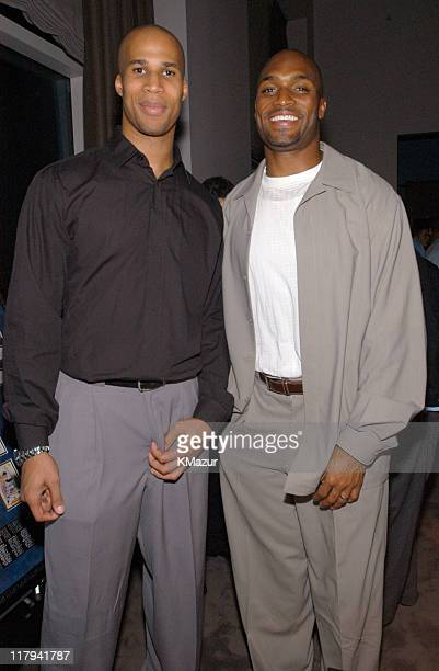 Richard Jefferson NJ Nets and Amani Toomer of the NY Giants