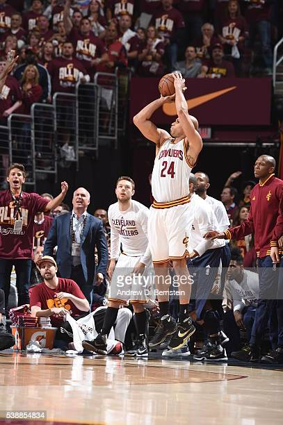 Richard Jefferson of the Cleveland Cavaliers shoots the ball against the Golden State Warriors during Game Three of the 2016 NBA Finals on June 8...