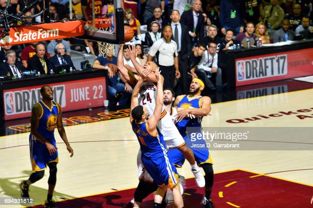 Richard Jefferson of the Cleveland Cavaliers shoots the ball during the game against the Golden State Warriors in Game Four of the 2017 NBA Finals on...