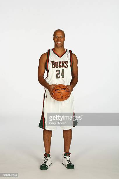 Richard Jefferson of the Milwaukee Bucks poses for a portrait during NBA Media Day on September 29 2008 at the Cousins Center in St Francis Wisconsin...