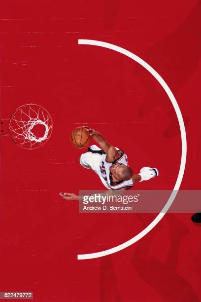 Richard Jefferson of the New Jersey Nets shoots during the 1997 Rising Stars Challenge played February 8 2003 at the Philips Arena in Atlanta Georgia...