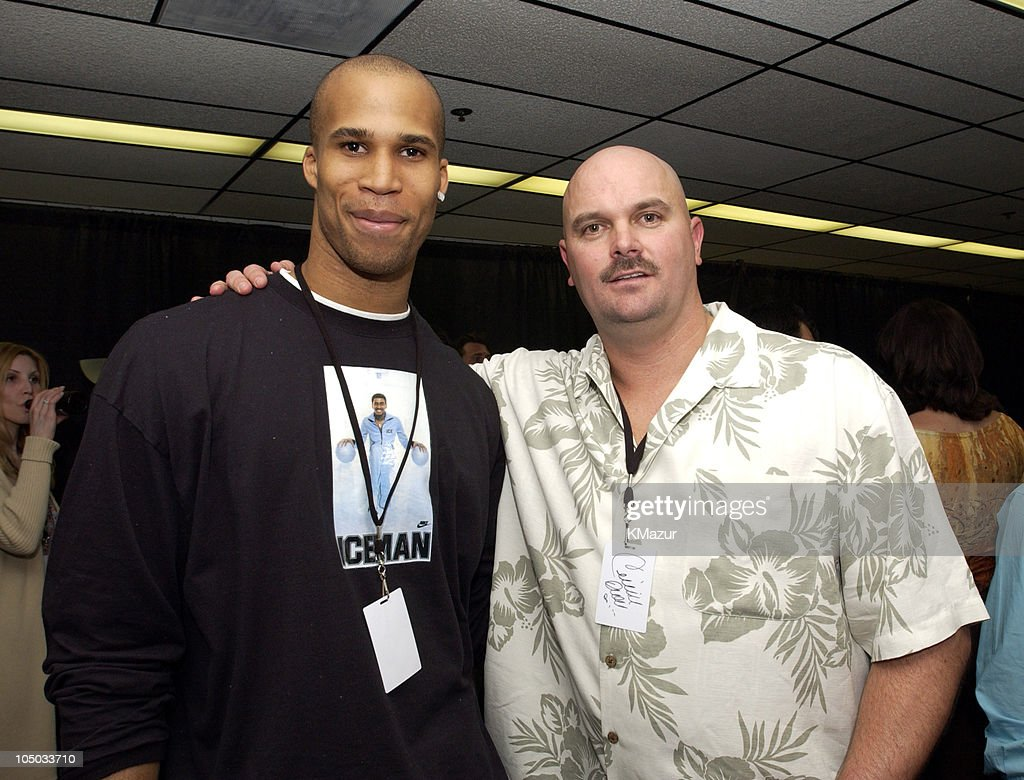 <a gi-track='captionPersonalityLinkClicked' href=/galleries/search?phrase=Richard+Jefferson&family=editorial&specificpeople=201688 ng-click='$event.stopPropagation()'>Richard Jefferson</a>, small forward for the New Jersey Nets, and <a gi-track='captionPersonalityLinkClicked' href=/galleries/search?phrase=David+Wells+-+Baseball+Player&family=editorial&specificpeople=202481 ng-click='$event.stopPropagation()'>David Wells</a>, starting pitcher for the New York Yankees