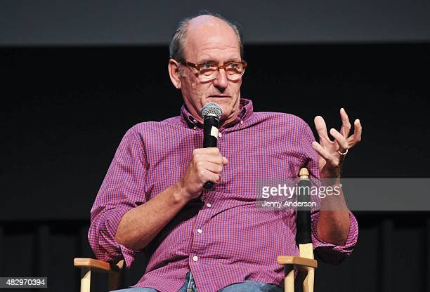 Richard Jenkins discusses his show 'Olive Kitteridge' during SAG Foundation's Backstage Emmy Series at NYIT Auditorium on August 4 2015 in New York...