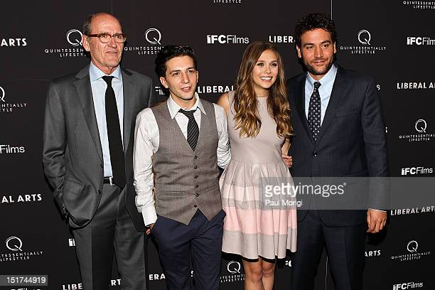 Richard Jenkins John Magaro Elizabeth Olsen and Josh Radnor attend the 'Liberal Arts' New York Screening at Landmark's Sunshine Cinema on September...