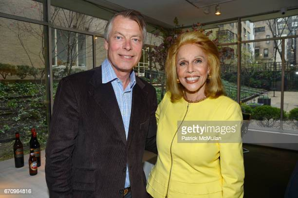 Richard Johnson and Susan Silver attend Susan Silver's Memoir Signing Celebration at Michael's on April 20 2017 in New York City
