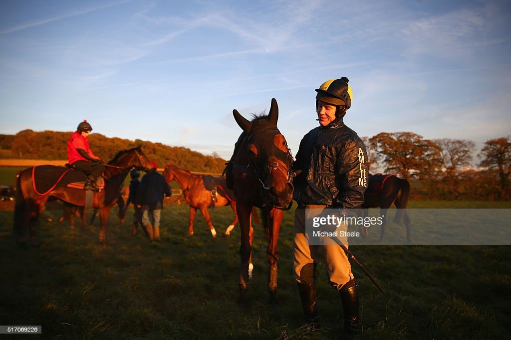 Richard Johnson the National Hunt champion elect jockey poses with Risk a Fine at Philip Hobbs' Sandhill Racing Stables on November 23, 2016 in Bilbrook, England. With over 3000 career wins and second on the list of National Hunt's all-time winning jockeys Johnson is set to become champion jockey after 20 years