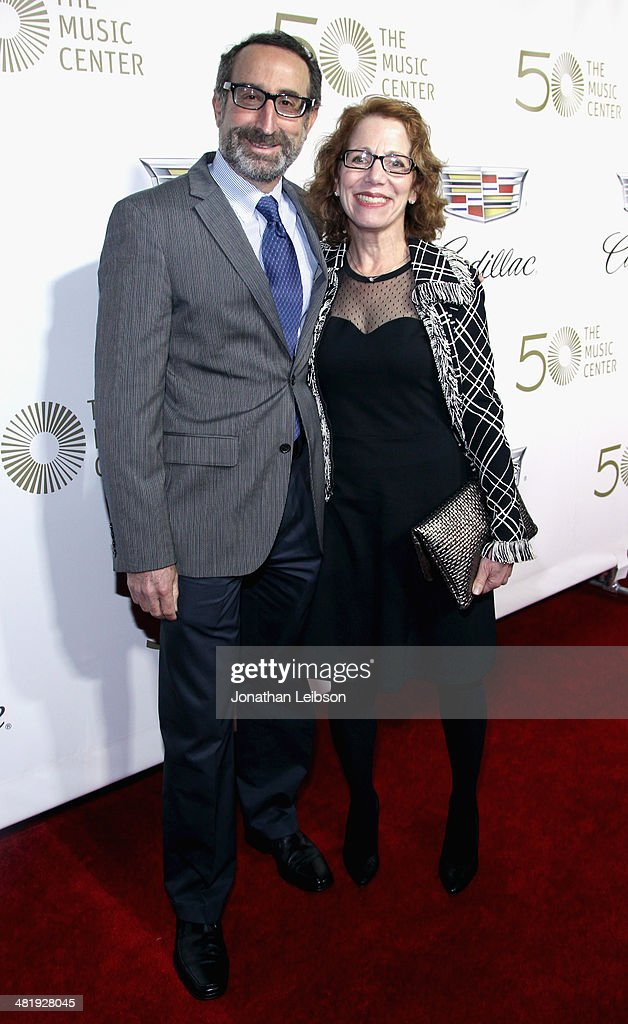 Richard Jones and Randi Jones arrive at The Music Center's 50th Anniversary Launch Party held at The Dorothy Chandler Pavilion on April 1, 2014 in Los Angeles, California.
