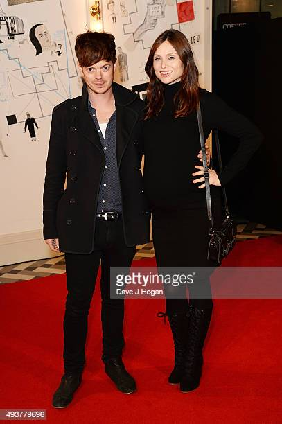 Richard Jones and Sophie Ellis Bextor attend the UK Premiere of 'Kill Your Friends' at Picturehouse Central on October 22 2015 in London England