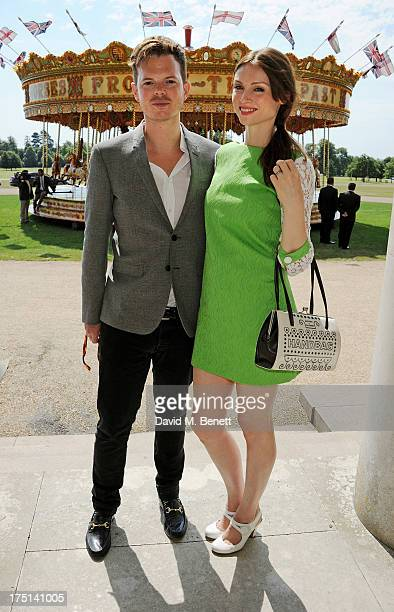 Richard Jones and Sophie EllisBextor attend Ladies Day hosted by Audi at Glorious Goodwood held at Goodwood Racecourse on August 1 2013 in Chichester...