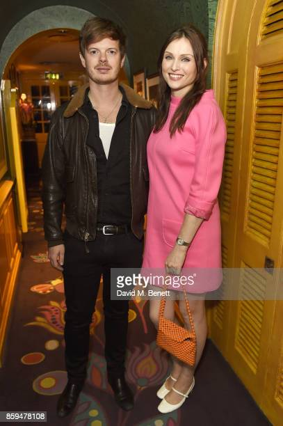 Richard Jones and Sophie EllisBextor attend the Conde Nast Traveller 20th anniversary party at Vogue House on October 9 2017 in London England