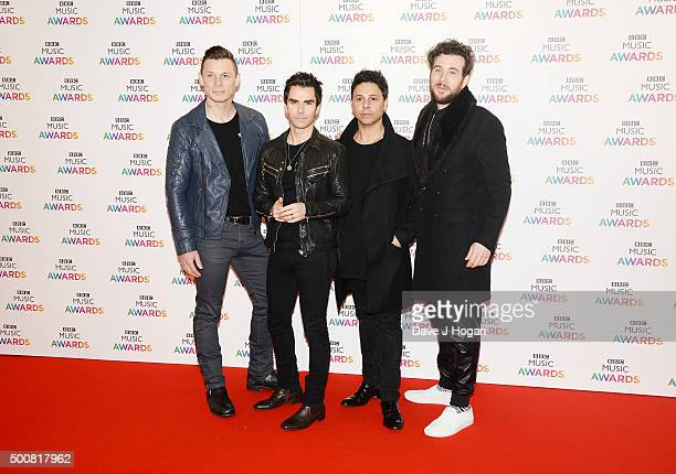 Richard Jones Kelly Jones Adam Zindani and Jamie Morrison of the Stereophonics attend the BBC Music Awards at Genting Arena on December 10 2015 in...