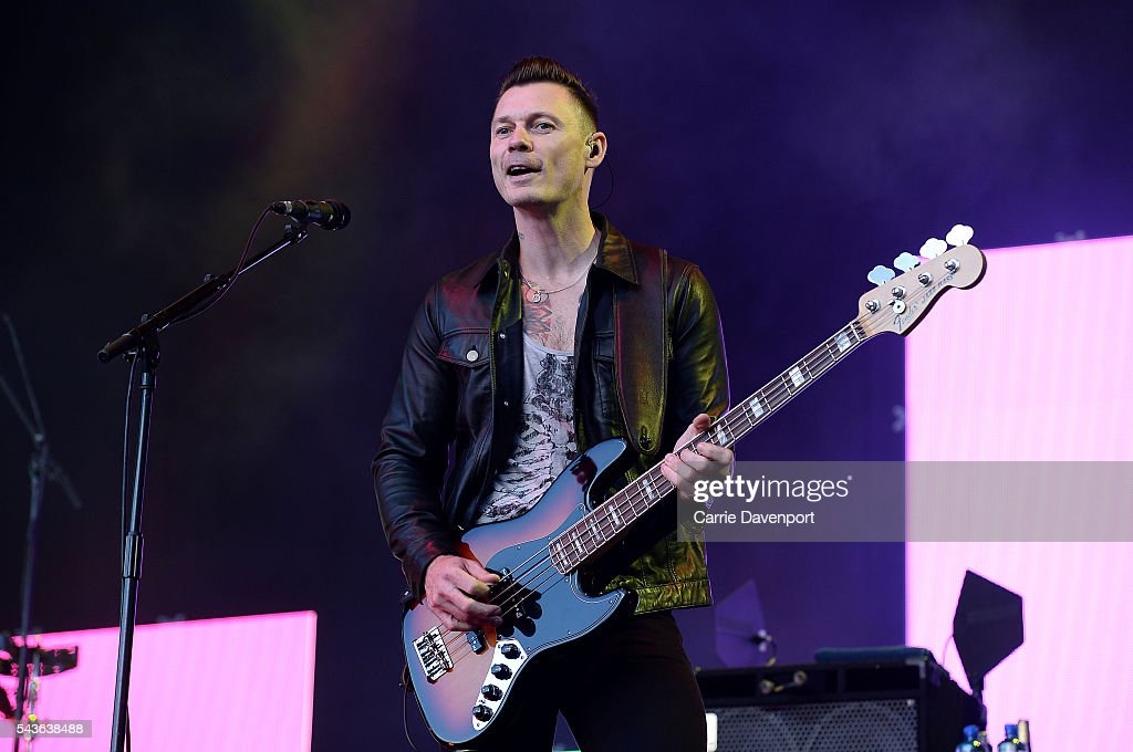 Richard Jones of Stereophonics perform onstage at Titanic Slipways on June 29, 2016 in Belfast, Northern Ireland.