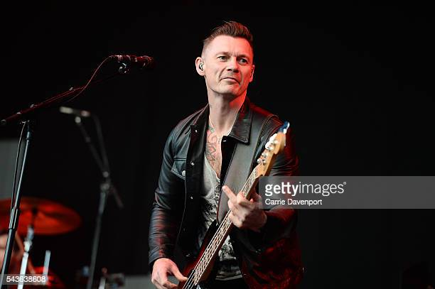 Richard Jones of Stereophonics perform onstage at Titanic Slipways on June 29 2016 in Belfast Northern Ireland