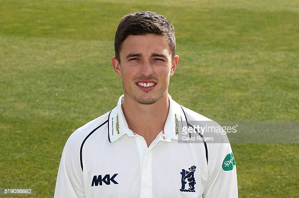 Richard Jones of Warwickshire CCC poses for a portrait during the photocall held at Edgbaston on April 4 2016 in Birmingham England