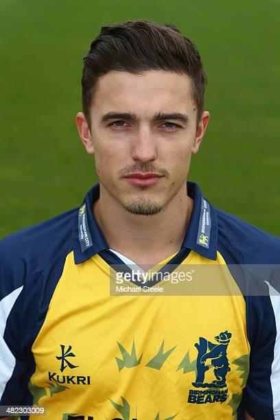 Richard Jones of Warwickshire poses in the Birmingham Bears NatWest T20 Blast kit during the Warwickshire CCC photocall at Edgbaston on April 3 2014...