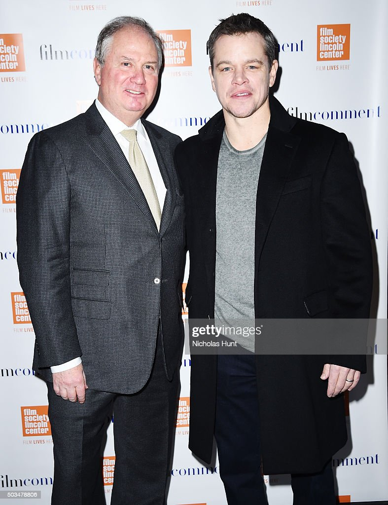 Richard Kandel and Matt Damon attend the 2016 Film Society Of Lincoln Center Luncheon at Scarpetta on January 5, 2016 in New York City.