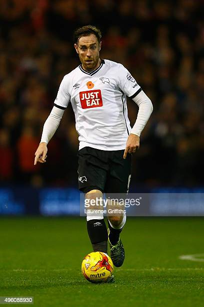 Richard Keogh of Derby County in action during the Sky Bet Championship match between Nottingham Forest and Derby County at City Ground on November 6...