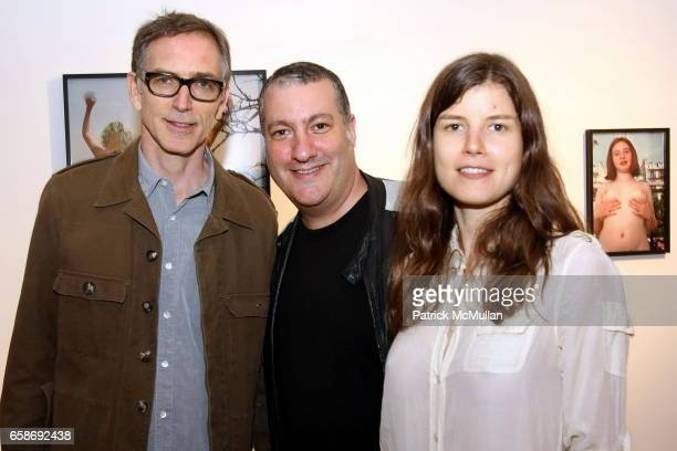 Richard Kern Spencer Tunick and Martynka Wawrzyniak attend Opening of RICHARD KERN Photos 19801999 at RENTAL on June 4 2009 in New York City