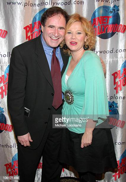 Richard Kind and Caroline Rhea during 'The Little Dog Laughed' Broadway Opening After Party Arrivals at Planet Hollywood Times Square in New York...