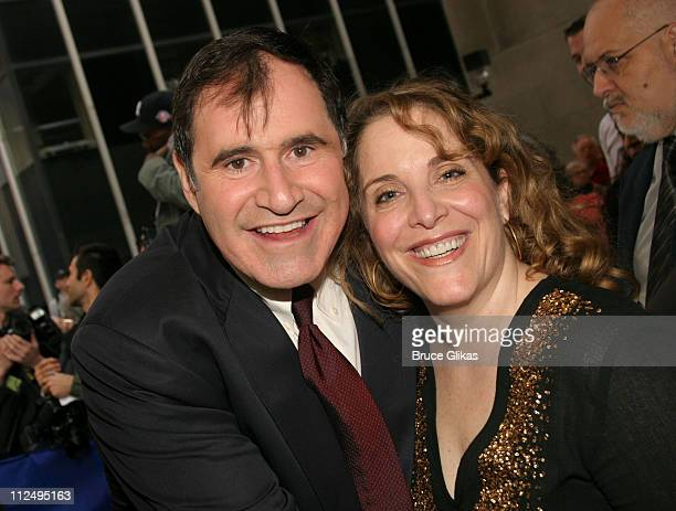 Richard Kind and Claudia Shear during Opening Night of Martin McDonagh's 'The Pillowman' on Broadway Arrivals at The Booth Theater in New York City...