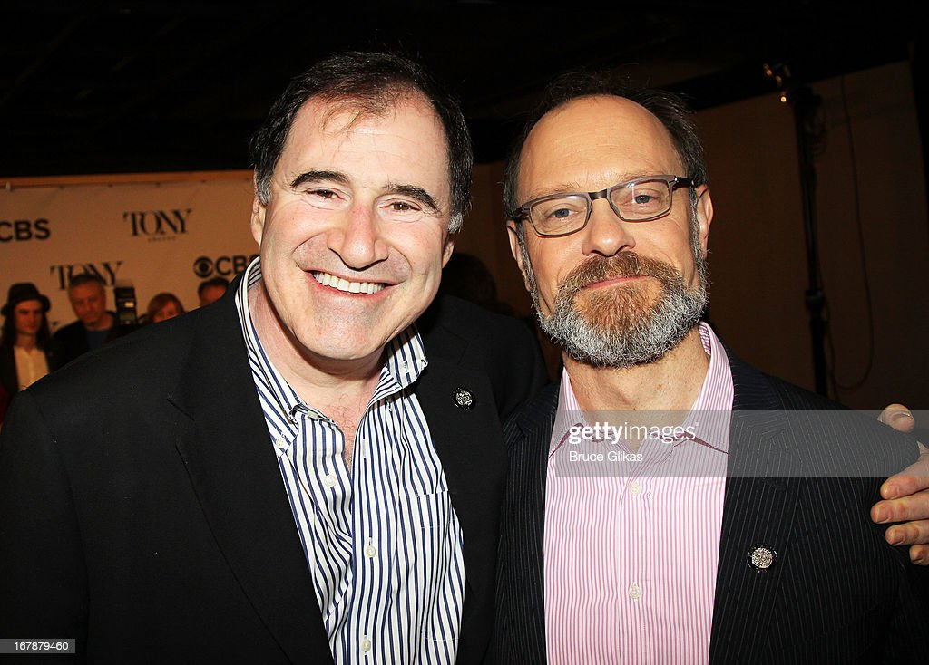 Richard Kind and David Hyde Pierce attend the 2013 Tony Awards: The Meet The Nominees Press Junket at the Millenium Hilton on May 1, 2013 in New York City.