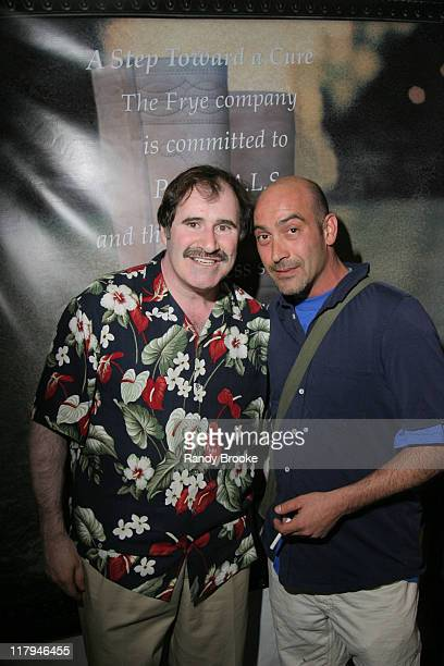 Richard Kind and John Ventimiglia during A Night to Believe New York Mets and Project ALS June 4 2004 at Shea Stadium in New York City New York...