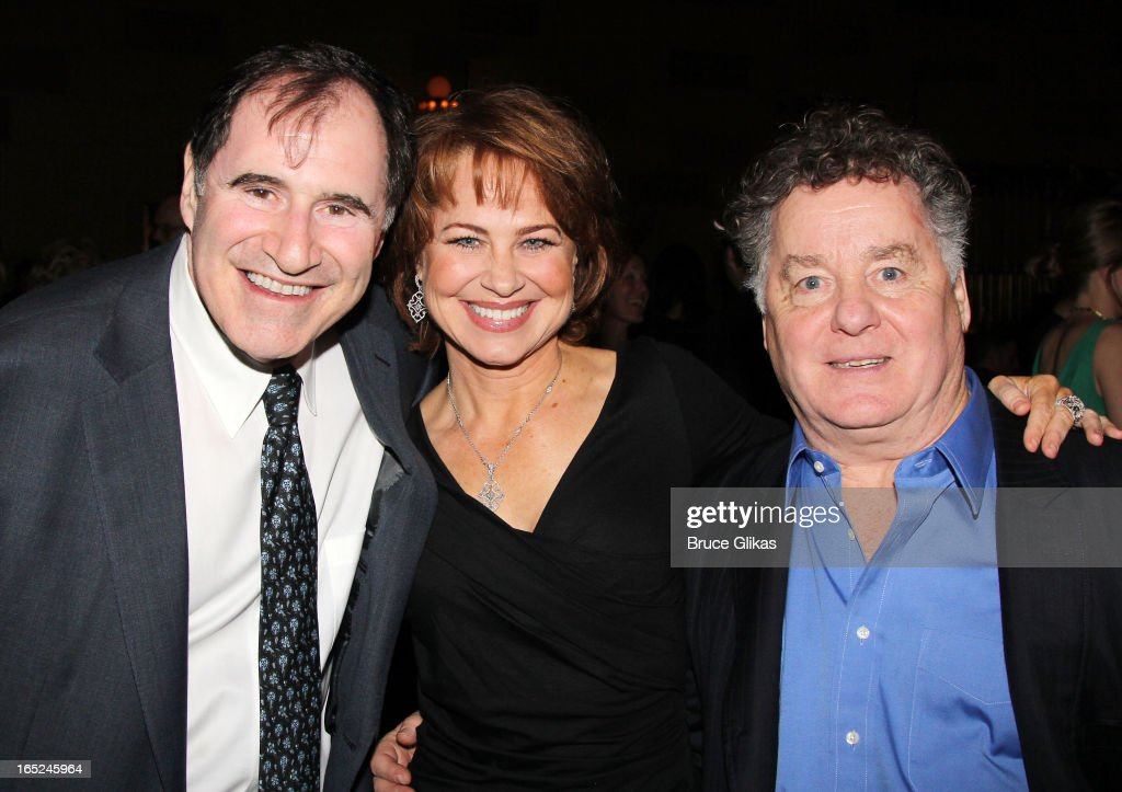 <a gi-track='captionPersonalityLinkClicked' href=/galleries/search?phrase=Richard+Kind&family=editorial&specificpeople=216578 ng-click='$event.stopPropagation()'>Richard Kind</a>, <a gi-track='captionPersonalityLinkClicked' href=/galleries/search?phrase=Deirdre+Lovejoy&family=editorial&specificpeople=2925466 ng-click='$event.stopPropagation()'>Deirdre Lovejoy</a> and Peter Gerety attend the opening night party for Broadway's 'Lucky Guy' at Gotham Hall on April 1, 2013 in New York City.
