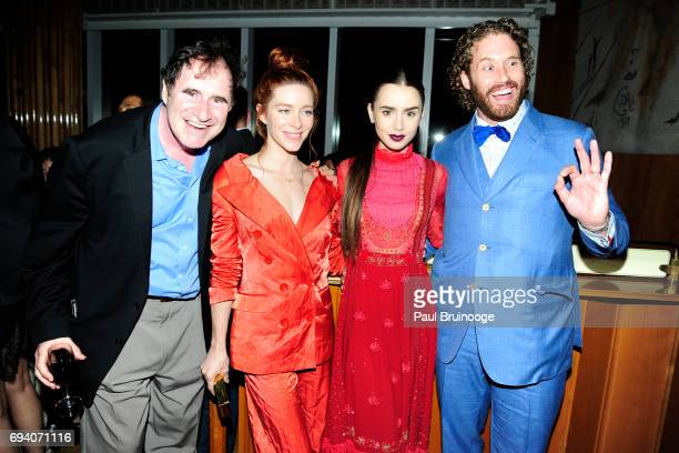 Richard Kind Kate Gorney Lily Collins and TJ Miller attend Netflix hosts the after party for 'Okja' at AMC Lincoln Square Theater on June 8 2017 in...
