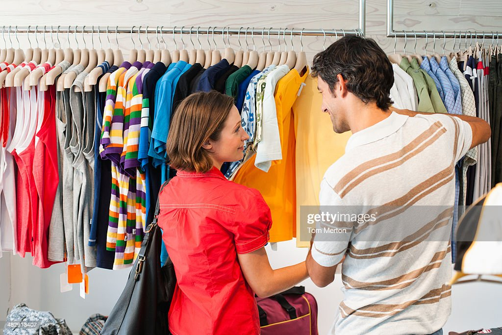 Richard & kirstin shopping at Mooks 0015 : Stock Photo