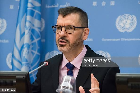 Richard Kollodge, Editor of the United Nations Population... : News Photo