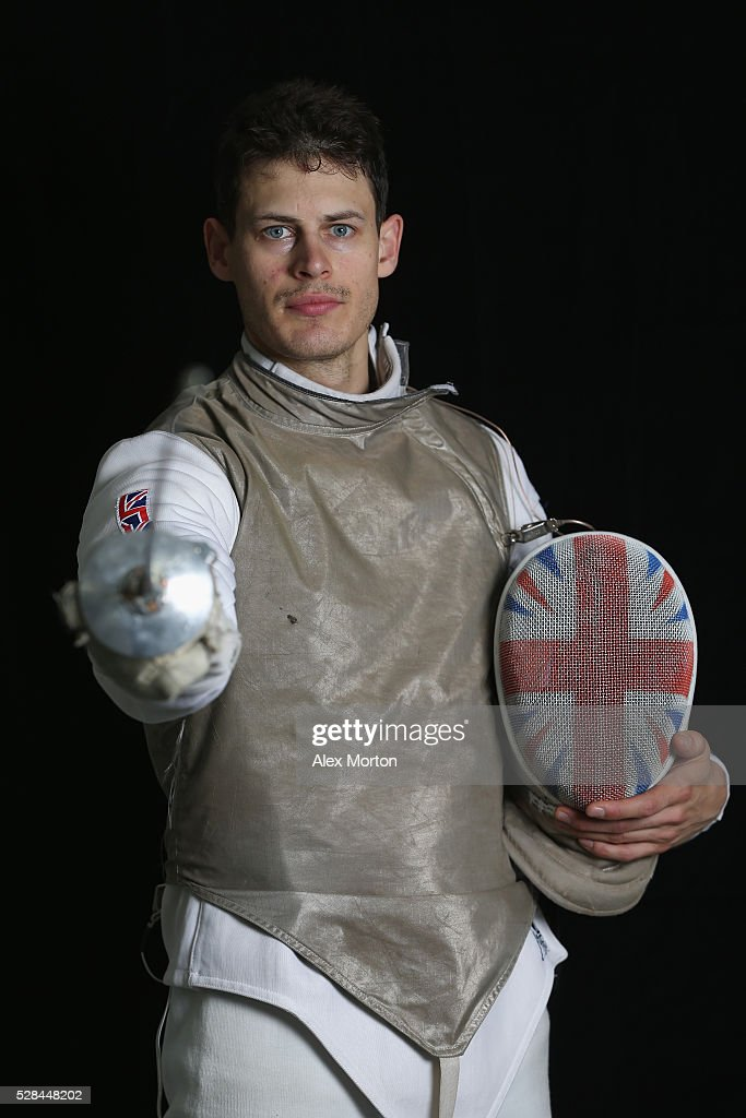<a gi-track='captionPersonalityLinkClicked' href=/galleries/search?phrase=Richard+Kruse&family=editorial&specificpeople=224788 ng-click='$event.stopPropagation()'>Richard Kruse</a> poses for a portrait during the announcement of Fencing Athletes Named in Team GB for the Rio 2016 Olympic Games at British Fencing's Elite Training Centre on May 5, 2016 in London, England.