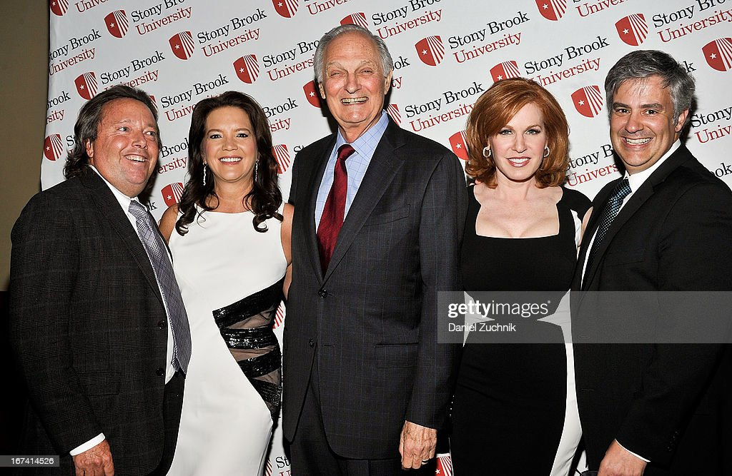 Richard L. Gelfond, Peggy Gelfond, Alan Alda, Liz Claman and Jeff Kepnes attend the 2013 Stars Of Stony Brook Gala at Pier 60 on April 24, 2013 in New York City.