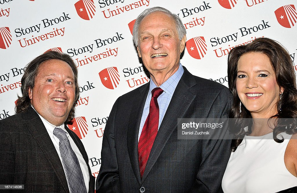 Richard L. Gelfond, Peggy Gelfond and Alan Alda attend the 2013 Stars Of Stony Brook Gala at Pier 60 on April 24, 2013 in New York City.
