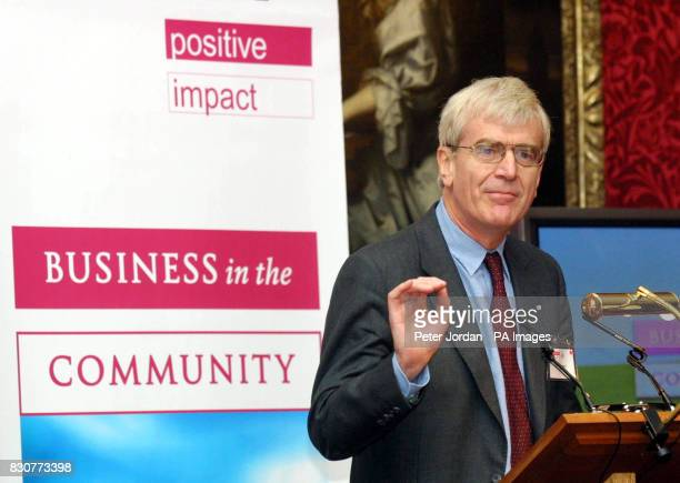 Richard Lambert former editor of The Financial Times speaking during the 10th anniversary celebration of the Business in the Community initiative...