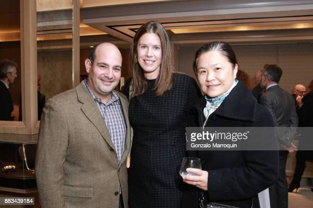 Richard Lansky Elizabeth Blake and Ellen Blau during the The New Macklowe Gallery Opening at 445 Park Avenue on November 30 2017 in New York City