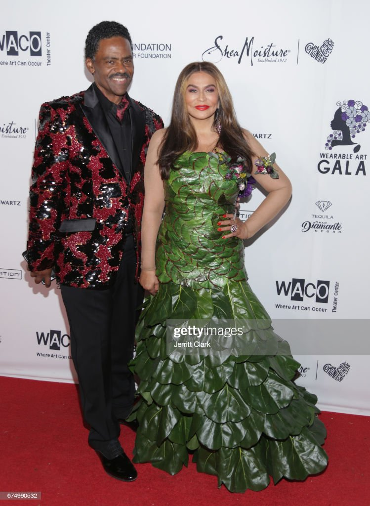 Richard Lawson and Tina Knowles attend the Wearable Art Gala at California African American Museum on April 29, 2017 in Los Angeles, California.