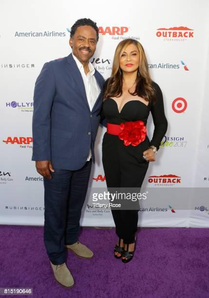 Richard Lawson and Tina Knowles Lawson at HollyRod Foundation's DesignCare Gala on July 15 2017 in Pacific Palisades California