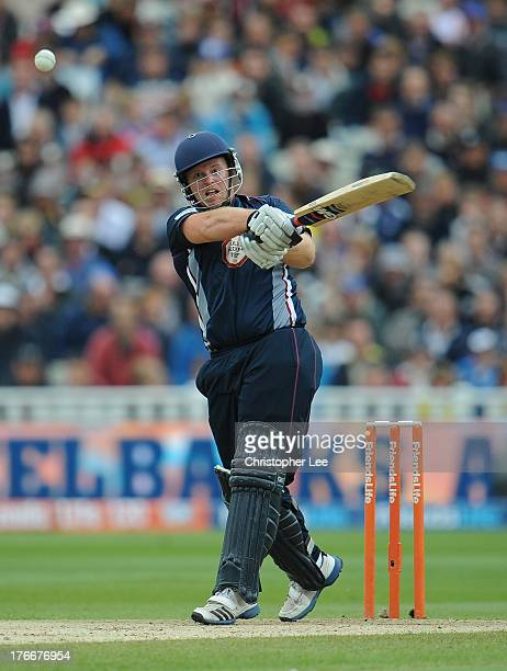 Richard Levi of Northampton in action during the Friends Life T20 Semi Final match between Northampton Steelbacks and Essex Eagles at Edgbaston on...